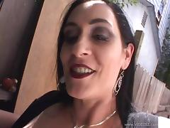 Busty milf Slut Raven sucks a dick and gets fucked doggy style