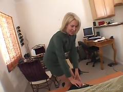 White Cougar Gets Her Hairy Pussy Fucked by a Black Guy