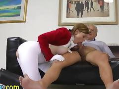 British Old and Young, Blowjob, British, Costume, Creampie, Cute