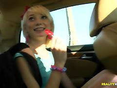 Car, Ass Licking, Assfucking, Blonde, Blowjob, Car