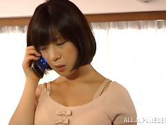 Goddess Wakaba Onoue Masturbates Talking On The Phone