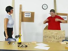 Hardcore video of brunette mom Shay Fox enjoying ardent banging