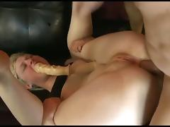 Sexy American Golden-Haired Legal Age Teenager Group-Fucked Hard