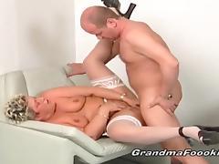 Big facial for hot grannies tube porn video