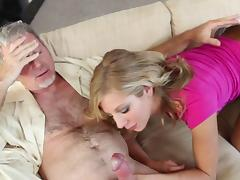 Old man is fucking blonde Chastity Lynn