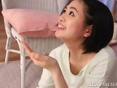 Amazing Erina Nagasawa Serves Her First Blowjob Ever