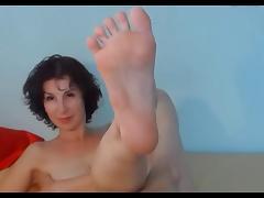 Brunette Milf Shows Her Sexy Feet
