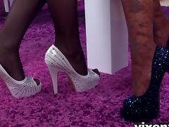 Feet, Asian, Brunette, Feet, Lesbian, Lingerie