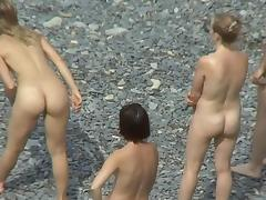 Beach, Beach, Nudist, Outdoor, Voyeur, Trimmed Pussy