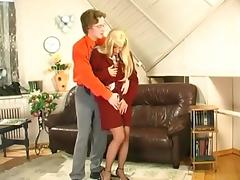 Mom and Boy, Mature, Office, Old, Russian, Older