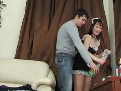 Russian sexy maid