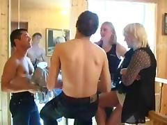 Svetlana fucking three studs tube porn video