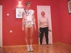 Older old granny fuck her instructor