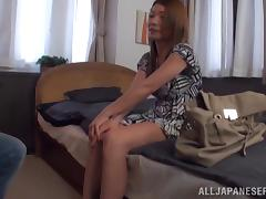Sexy Japanese babe is getting fucked at high level