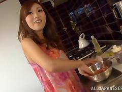 Succulent Japanese Babe Goes Hardcore In The Kitchen