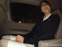 Sweet babe Miku Sunohara gets seduced in the car