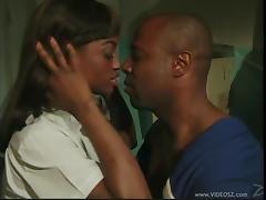 Ebony Couple Getting Busy in a Locker Room