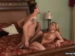 Lexi Lamour sucks and rubs a cock and gets ardently fucked from behind