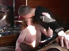 Overweight Russian Redhead with younger Paramour tube porn video
