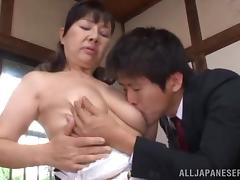 Japanese Cougar Goes Hardcore With Her Dirty Husband porn tube video