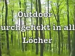 KimPepper - geiler three-Loch Outdoorfick