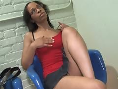 Black Teen In Glasses Is Excited For Her Gloryhole Surprise