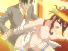 Horny old mans long cock fuckes a horny hentai coed