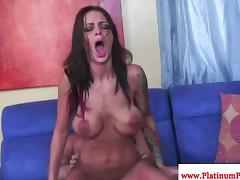 Angelina Valentine bouncing on cock tube porn video