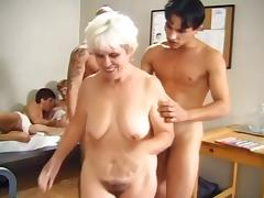Granny group orgy