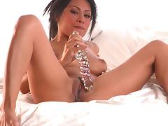Asian babe Cassandra Cruz and her dildo tube porn video