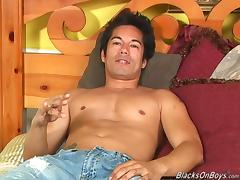 Rusty blows a black cock and gets fucked deep in the ass