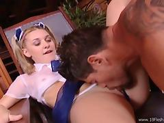 Brain makes Dana suck his dick before he fucks her pussy deep and hard