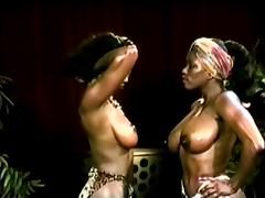 Black, Black, Catfight, Ebony, Wrestling, Vintage