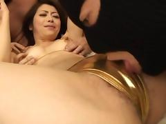 Maki Huojo gets drilled and licked in a hot gang bang scene. tube porn video
