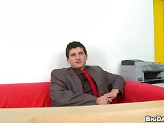 Benito Moss gets ass fucked by Denis Reed at an interview tube porn video