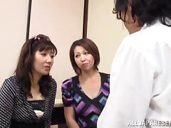Japanese Mature, Asian, Bitch, Ffm, Fingering, Glasses