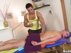 Muscled Max Born gets massaged and fucked by another guy tube porn video