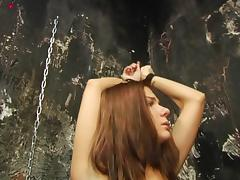 Young, Babe, BDSM, Bound, Brunette, Lick
