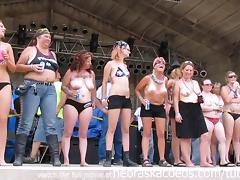 massive titty contest at iowa biker rally tube porn video