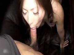 Japanese Cumslut MILF Sucks Cock and Gets Creampie