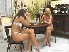 Hot threesome with two sexy chicks Alexa and Simony