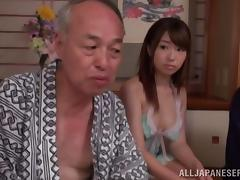 Older Guys Fuck Hot Younger Asian Girls During a Group Sex Party