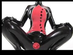 Latexcrazy Condom Catsuit and Latex Lucy
