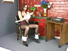 Savoury teen gets tied and loses her pantyhose
