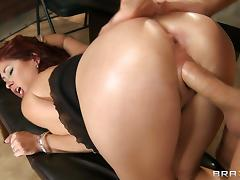 Rough sex with the busty redhead Tiffany Mynx porn tube video