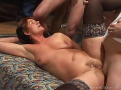 Gangbang, Banging, Bitch, Gangbang, Group, Mature