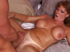Mom, Bed, Big Tits, Blowjob, Cumshot, MILF