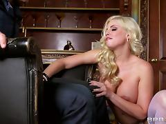 Britney Amber is fucked up her tight asshole a horny guy tube porn video