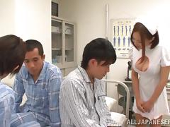 Asian Nurse Lets Her Patient Cum in Her Mouth