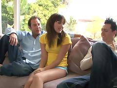 Delightful Sarah Shine Goes Hardcore With Two Guys
